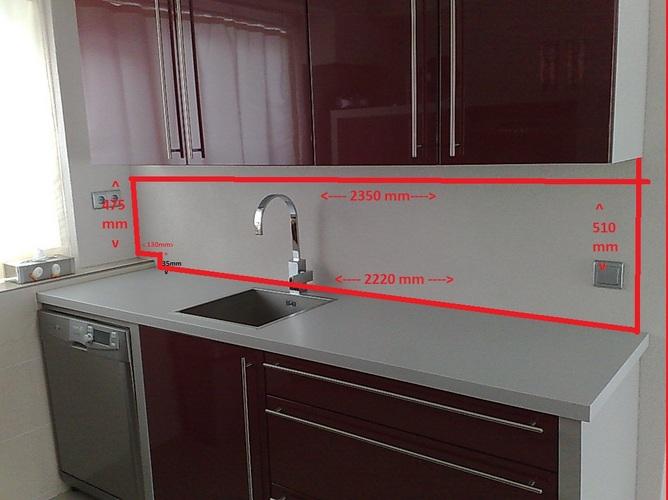 Spatscherm Glas Keuken : Glazen achterwand keuken werkspot