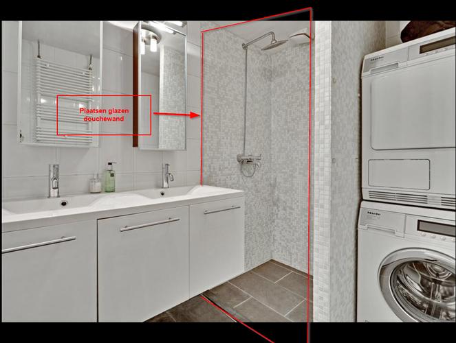 Muur badkamer verwijderen en douchewand plaatsen werkspot