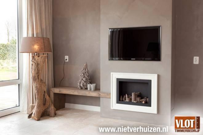 Inbouw elektrische sfeerhaard en TV woonkamer - Werkspot