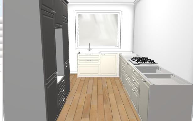 Grote L Keuken Met 3 Hoge Kasten Plaatsen Inclusief