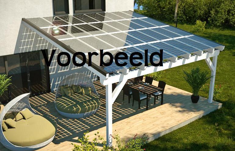 Bekend Maken van een houten veranda met dak van zonnepanelen - Werkspot @YE41