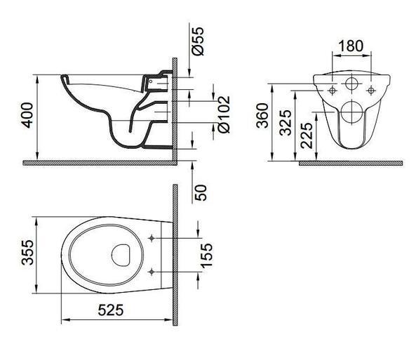 Bekend Vervangen hangtoilet pot. - Werkspot LL44