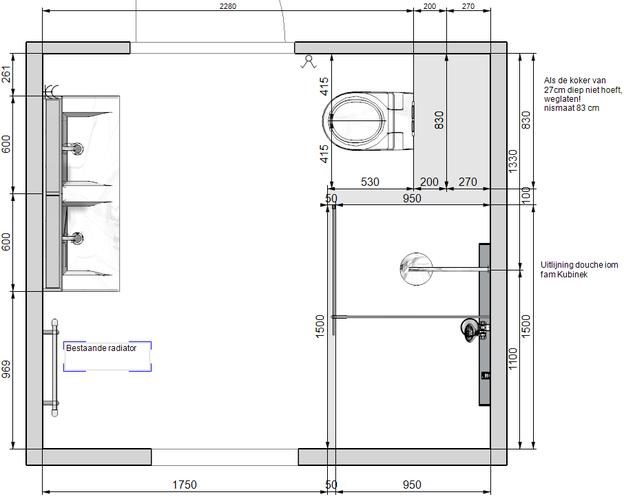 Installeren badkamer en toilet werkspot for Tekening badkamer maken