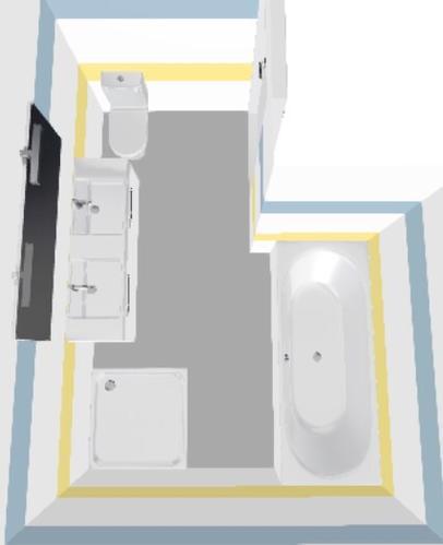 Nieuwe badkamer uitbouw en plaatsen l vorm 1 68 l x 1 68 b werkspot - Huidige badkamer ...