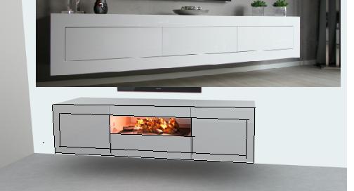 Sfeerhaard Tv Meubel : Tv meubel met elektrische sfeerhaard werkspot