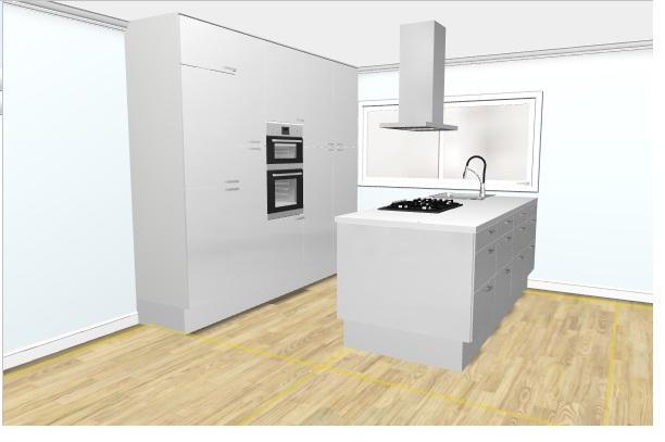 Keuken Ikea Kastenwand : Ikea keuken plaatsen eiland kastenwand werkspot