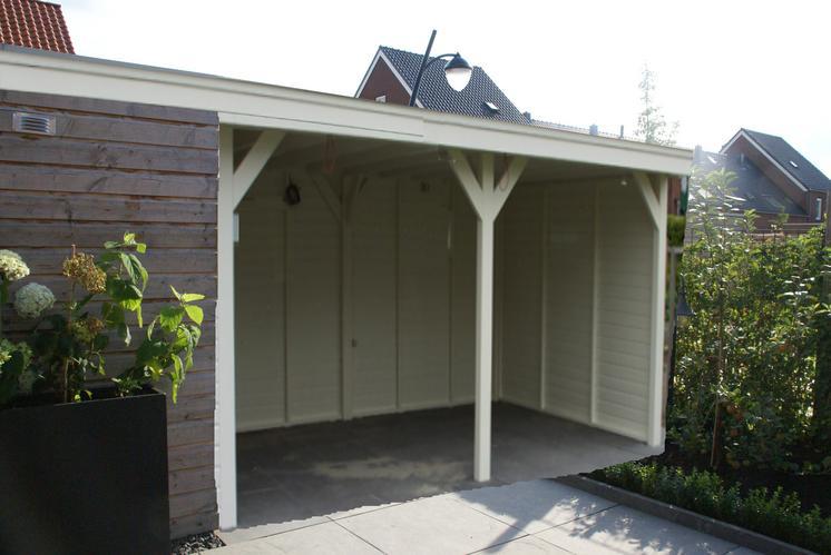 overkapping schuur 4 50 x 4 00 meter werkspot. Black Bedroom Furniture Sets. Home Design Ideas