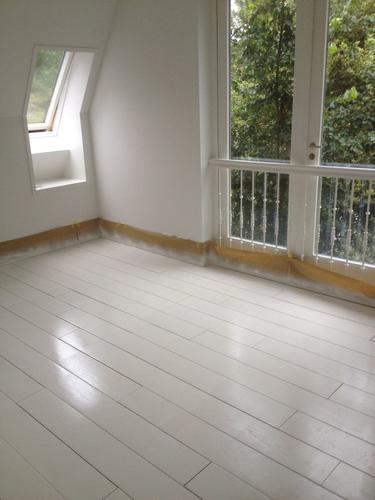 spuiten/schilderen grenen houten vloer slaapkamer - ongeveer 12m2 ...