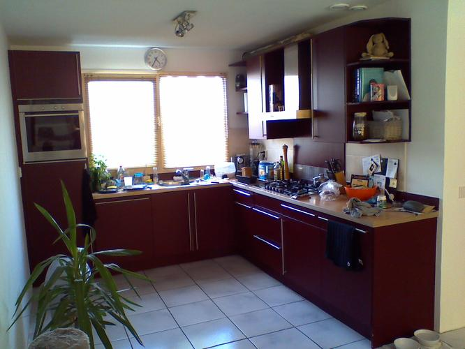 Hoek keuken renoveren ca m m dmv wrappen hoogglans wit