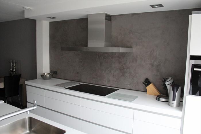 betonstuc wand keuken cemcolori werkspot. Black Bedroom Furniture Sets. Home Design Ideas