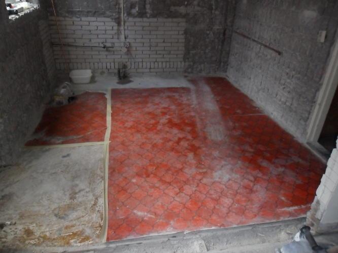 Verwijderen zeil met asbest uit keuken werkspot
