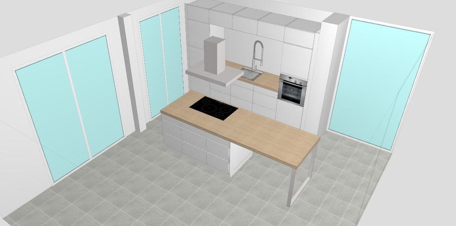 Voormontage/bezorging/montage/plaatsing koof KVIK keuken - Werkspot