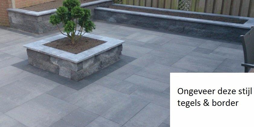 Tuin renoveren nieuwe tegels kunstgras en verhoogde for Tuin renoveren