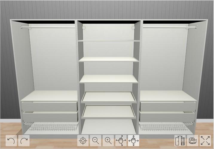 In elkaar zetten van 2 ikea pax kasten 3m en 2 5m werkspot for Ladenblok 1 meter breed
