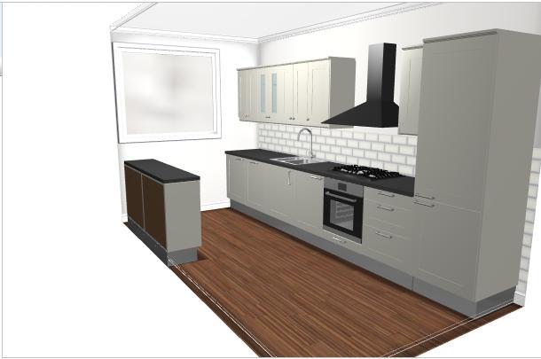 Rechte ikea keuken van cm en stenen werkblad werkspot
