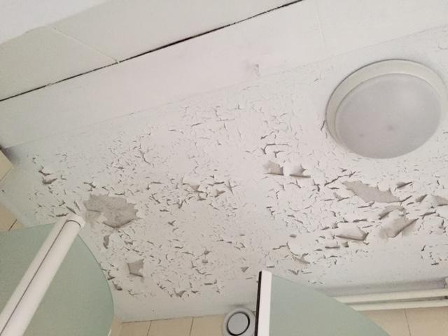 Badkamer plafond schimmel vrij maken en witten - Werkspot