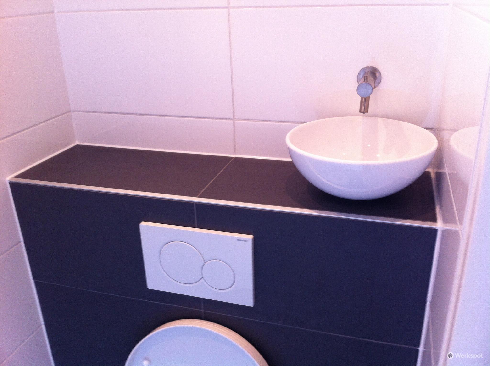 Vervangen staand toilet naar hang fontein werkspot