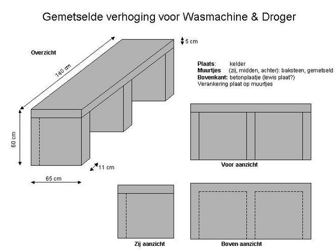 Metselen Verhoging Voor Wasmachine Amp Droger Werkspot
