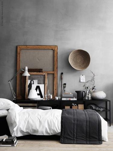 Verven wand slaapkamer - betonlook - Werkspot