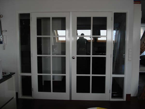 dubbele binnen deur met glas. - Werkspot