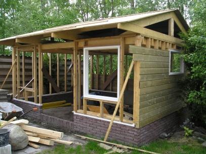 Hout skeletbouw tuinhuis werkspot for Foto op hout maken eigen huis en tuin