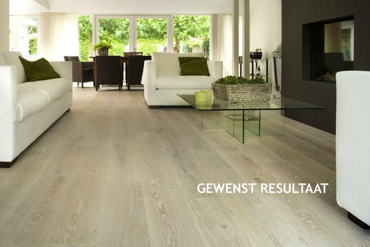 Eiken houten vloer lichter white wash maken werkspot