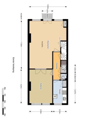 Verbouwen appartement amsterdam 70m2 werkspot - Plan slaapkamer kleedkamer ...
