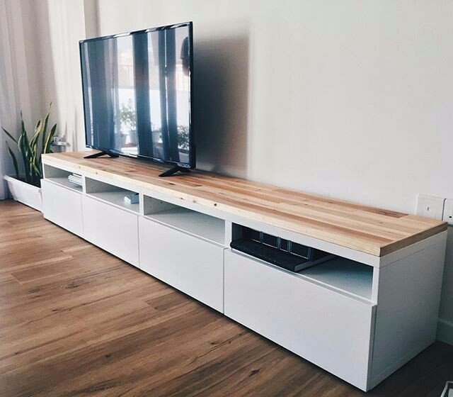 Tv Flatscreen Achterwand Met Verlichting En Afwerkplank Tv