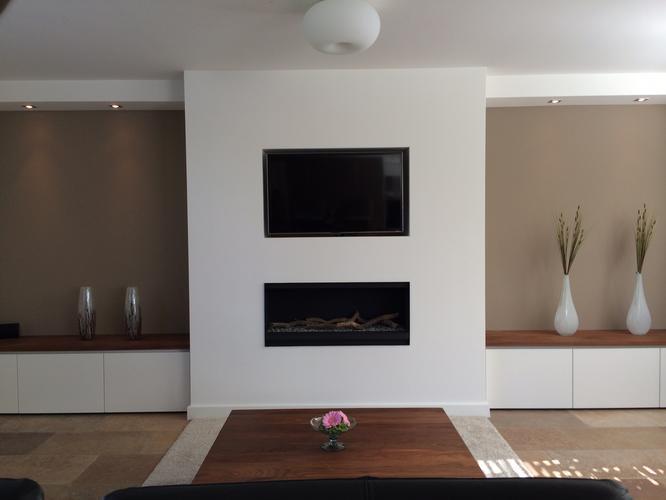 Openhaard In Woonkamer : Koof bouwen voor tv en elektr openhaard in woonkamer werkspot