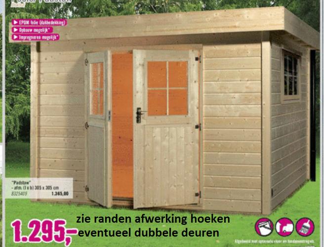 Vaak Schuur 6,5 x 2,5 (lxb) hout plat dak potdeksel structuur - Werkspot #KM24
