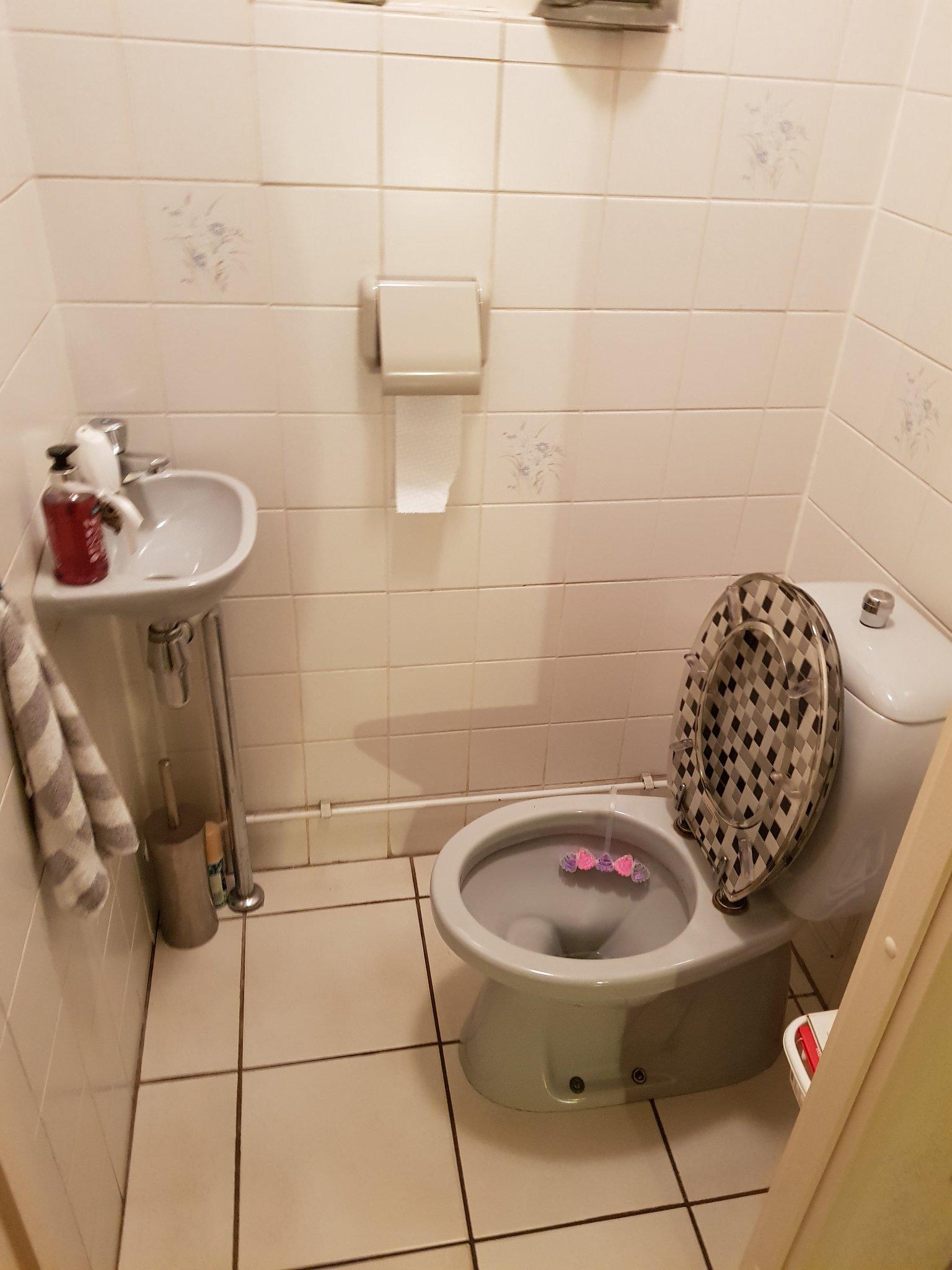 Bekend Staand toilet (afvoer in de grond) vervangen door hangend toilet ID67
