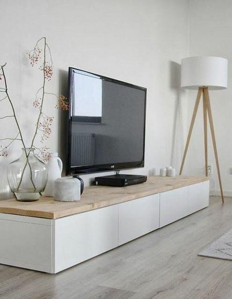 Tv Meubel Plank.Eiken Houten Plank Voor Op Besta Tv Meubel Werkspot