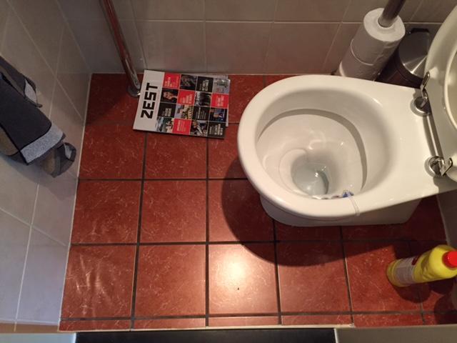 Wc pot vervangen en de vloer vd wc opnieuw betegelen werkspot
