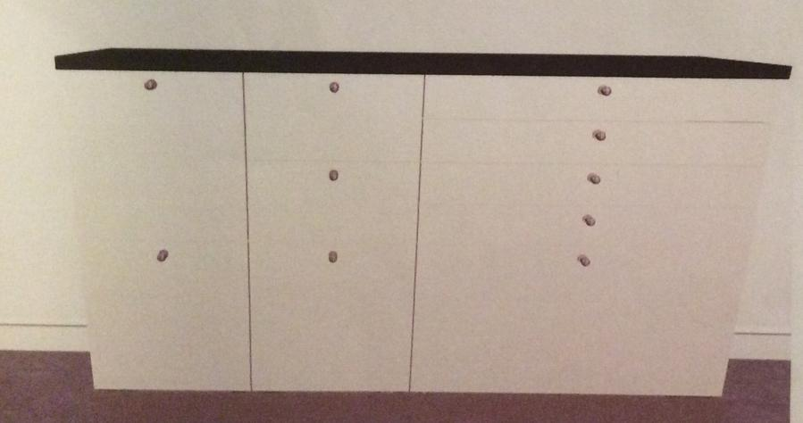 Complete montage 3 ikea ondiepe keukenkasten werkblad for Bureau 40 cm diep