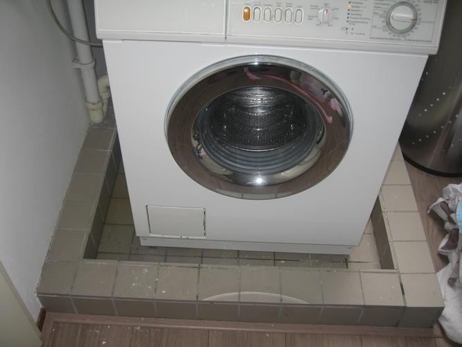 Fabulous Lekbak wasmachine maken op zolder met aansluiting op waterafvoer AE84