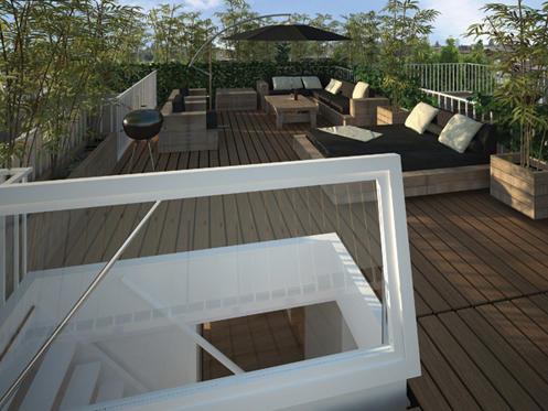 Plaatsen trap en dakraam voor toegang dakterras werkspot