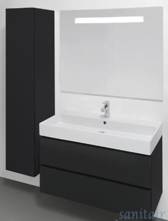 IKEA Badkamermeubel + Douche(wand) + Spiegel met lichtpunt - Werkspot