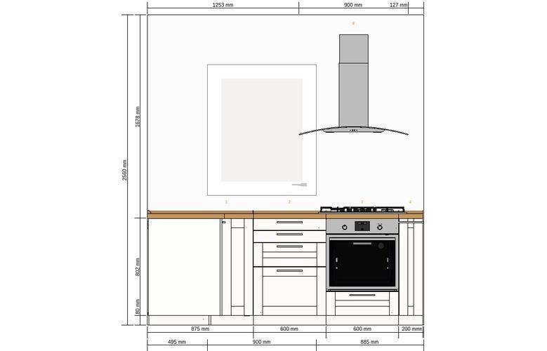 IKEA keuken plaatsen kookklaar 2,28 bij 2,90 - Werkspot