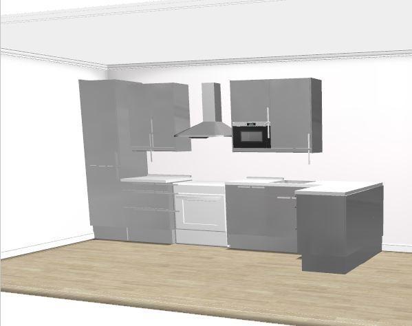 Kleine keuken met schiereiland ikea keuken modern inrichting kleine keuken - Kleine keuken met bar ...