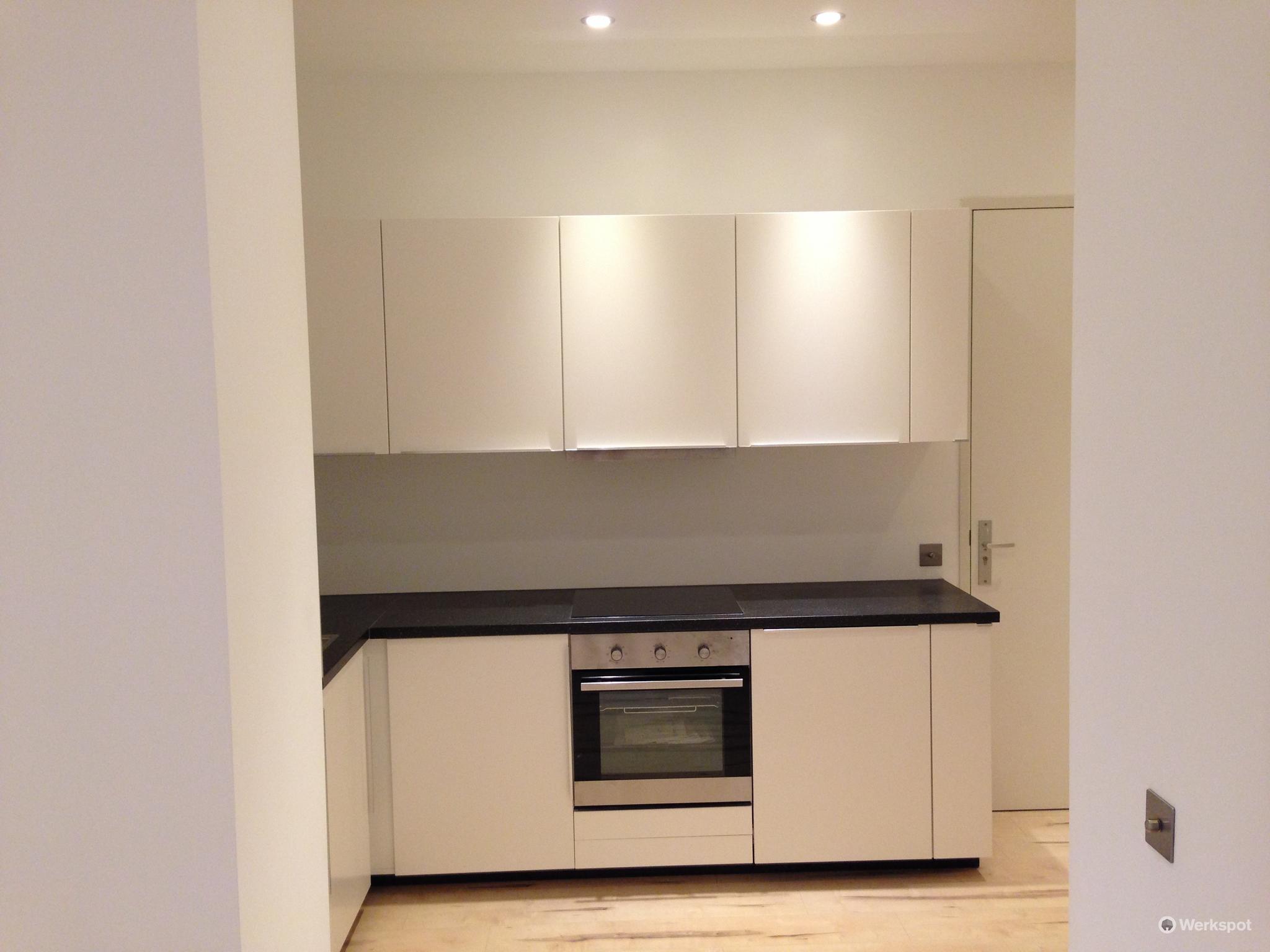 Keuken Verven Ikea : Verlaagd plafond tassenwandje vloer verven en ikea keuken