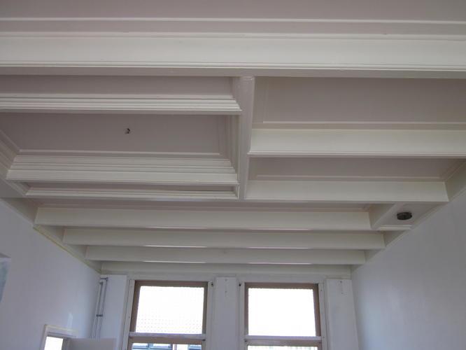 badkamer plafond schilderen dan is je verflaag te dun en