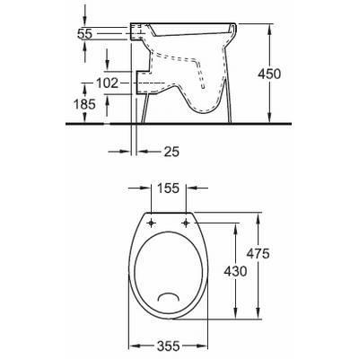 Extreem Gebarsten WC vervangen. - Werkspot NX69