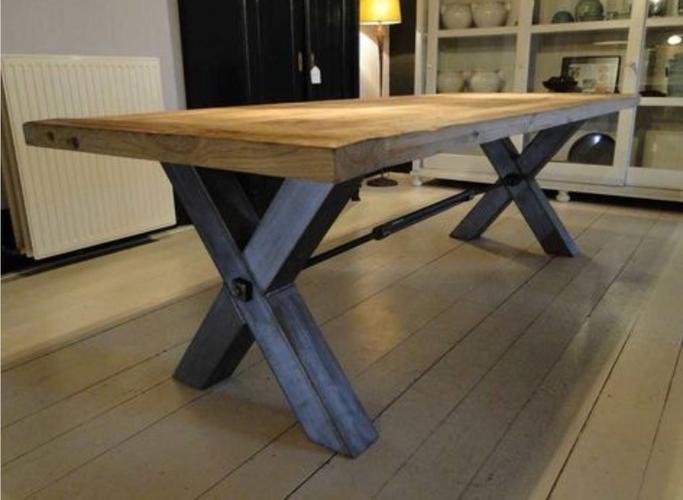 Fabulous kruispoot tafel bouwtekening hr92 for Bouwtekening tafel