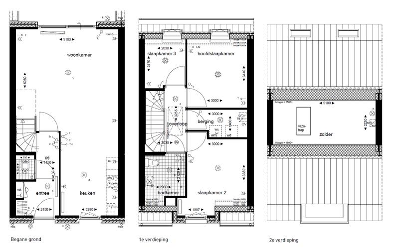 Nieuwbouw open trap naar zolder plaatsen en vizotrap for Vlizotrap inbouwen