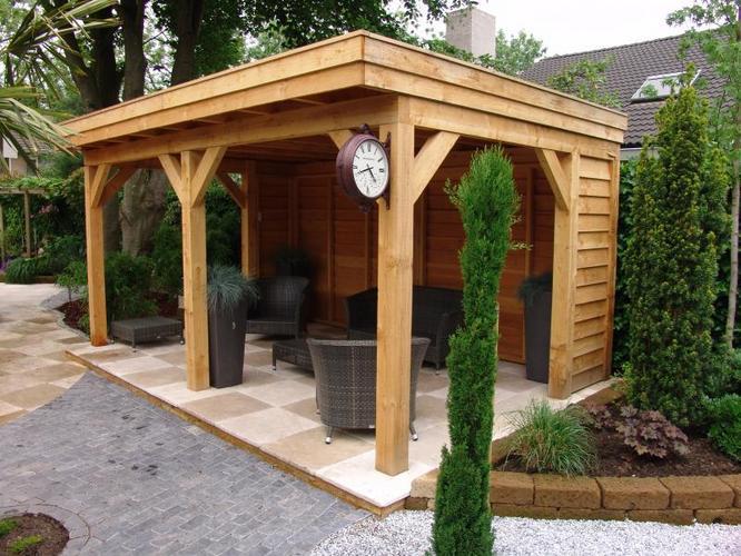 Overkapping werkspot for Bouwtekening veranda eigen huis en tuin