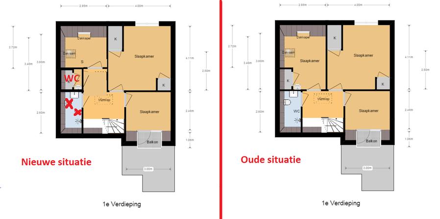 creeeren/verplaatsen wc (1.5mtr) + badkamer renoveren - werkspot, Badkamer