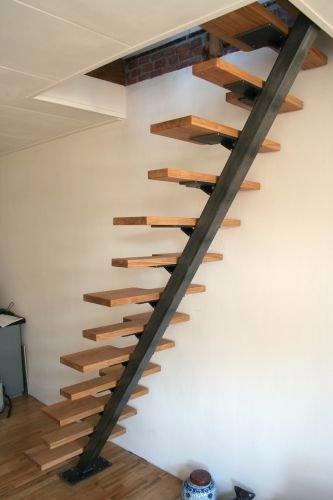 Vervangen vlizo trap voor vaste steile trap werkspot for Stalen trap maken