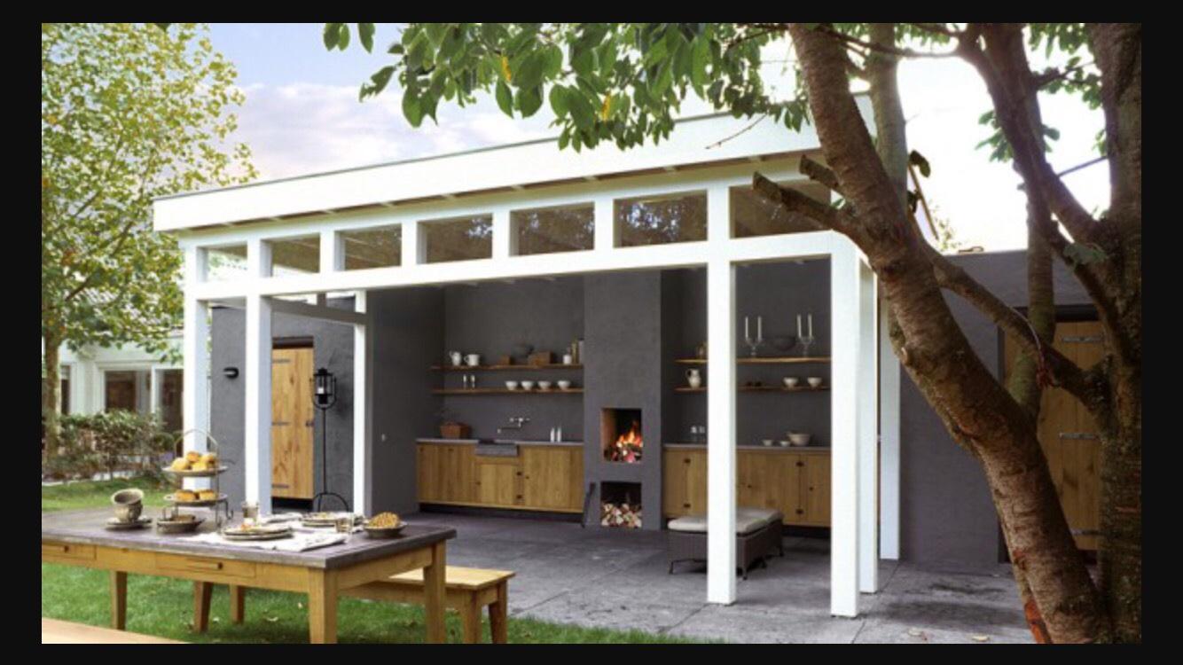 Buiten open haard bouwen t b v buitenkeuken veranda werkspot - Veranda ou uitbreiding ...