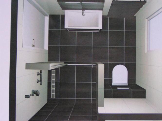 Nieuwbouw badkamer met inloopdouche - Werkspot