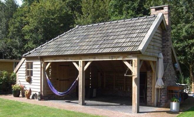 Ontwerp en bouwtekening tuinhuis kapschuur werkspot - Ontwerp tuinhuis ...